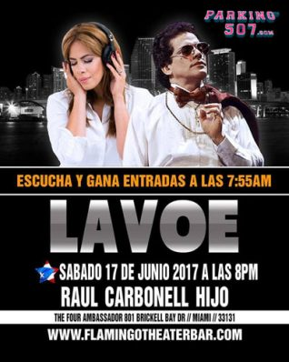 "VIVE LAVOE"" TRIBUTE TO HECTOR LAVOE BY RAUL CARBONELL JR. AT THE FLAMINGO THEATER FOR FATHER'S DAY"