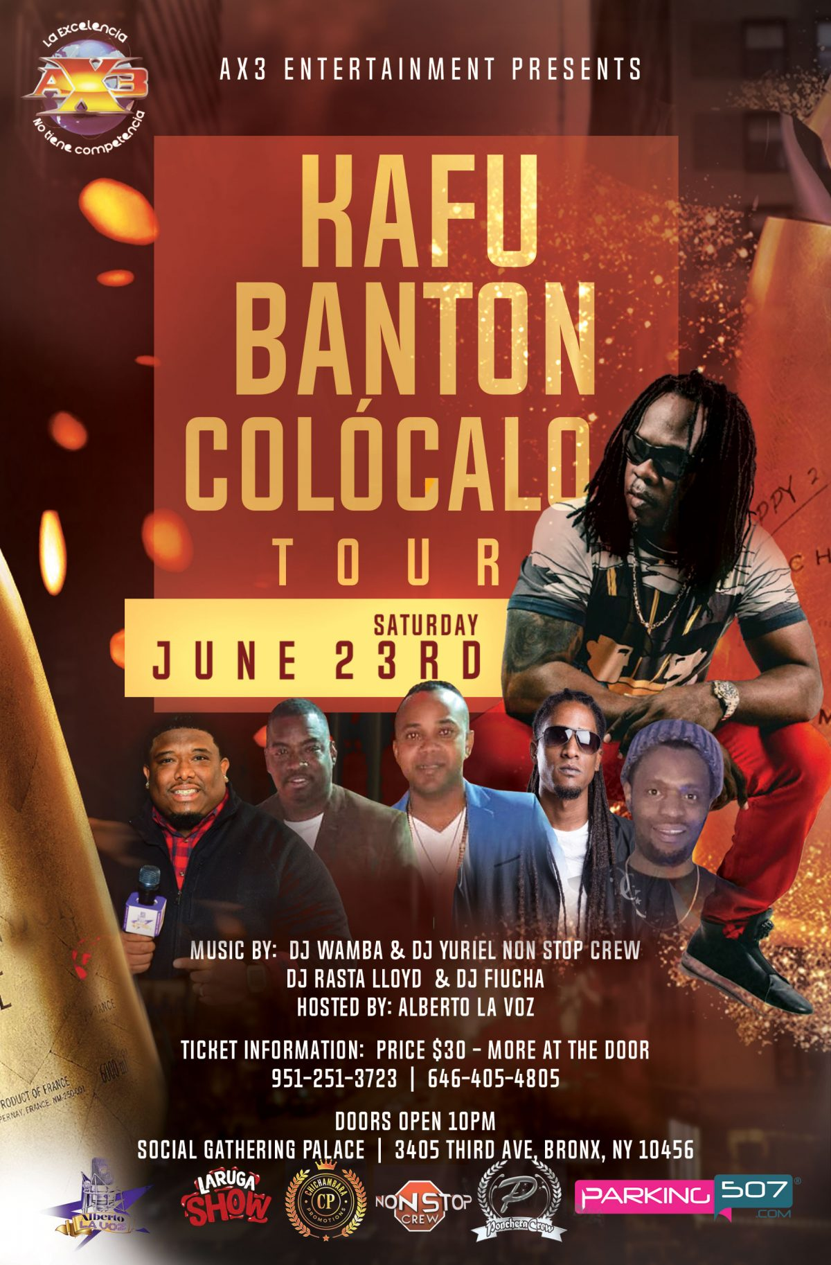 AX3 Entertainment Kafu Banton Colocalo Tour