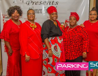Women in Red at Tropical Paradise Ballroom Brooklyn, New York