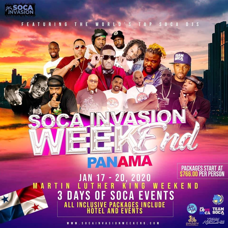 Soca Invasion Weekend Panama