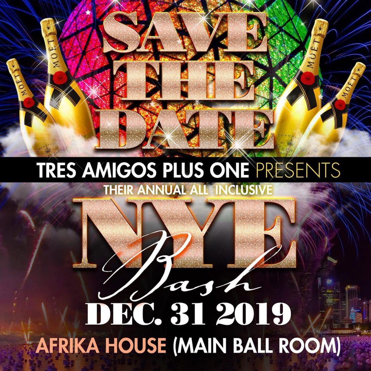 Tres Amigos Plus One All Inclusive NYE