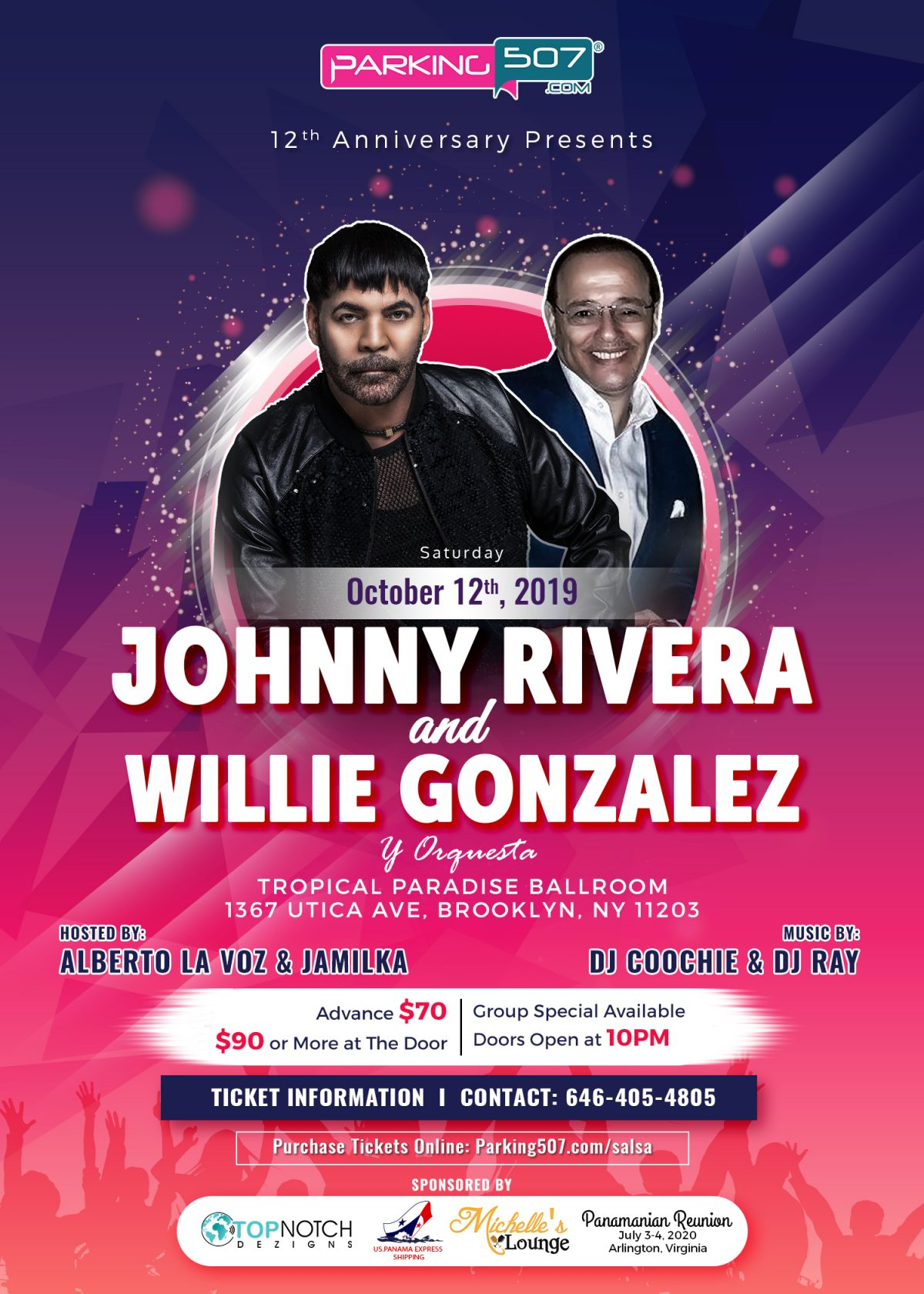 Johnny Rivera & Willie Gonzalez Salsa Performance in Brooklyn New York
